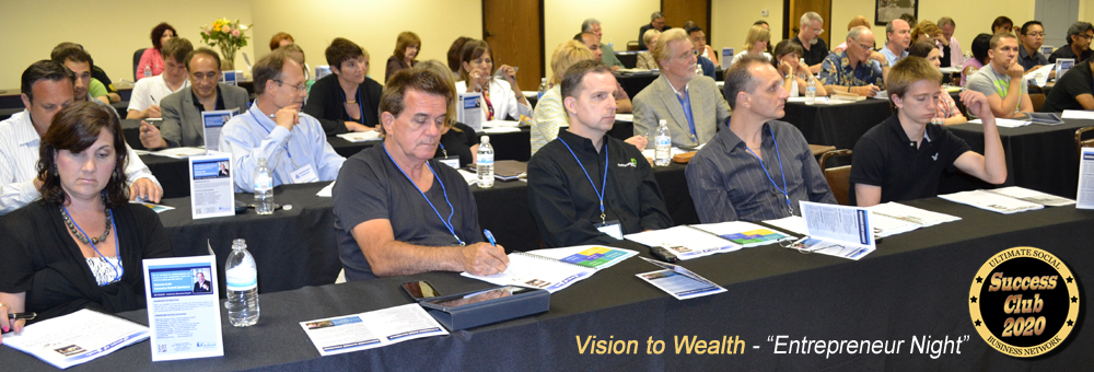 Vision to Wealth Entrepreneur Night banner